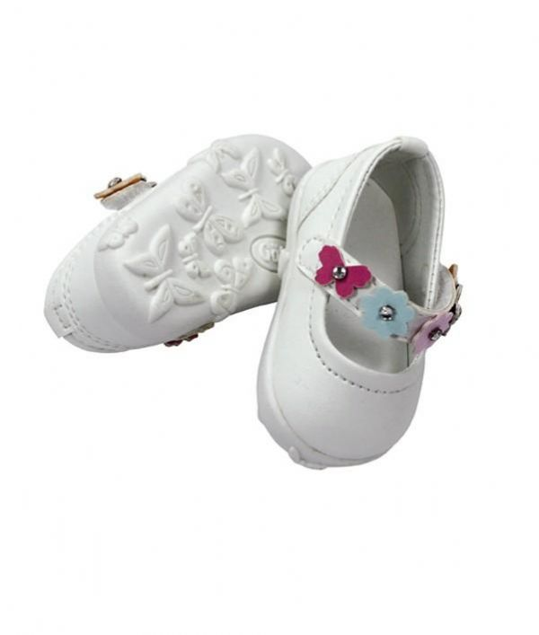 Gotz Doll Shoes with Flower Design. 7cm sole. 3401784